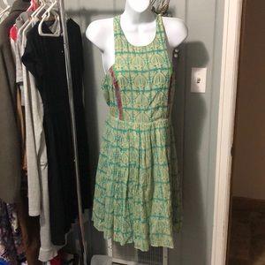 Plenty by Tracy Reese blue print dress size 6